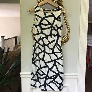 Limited black and white dress